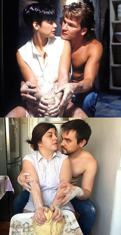Couple Recreates Scene from Ghost