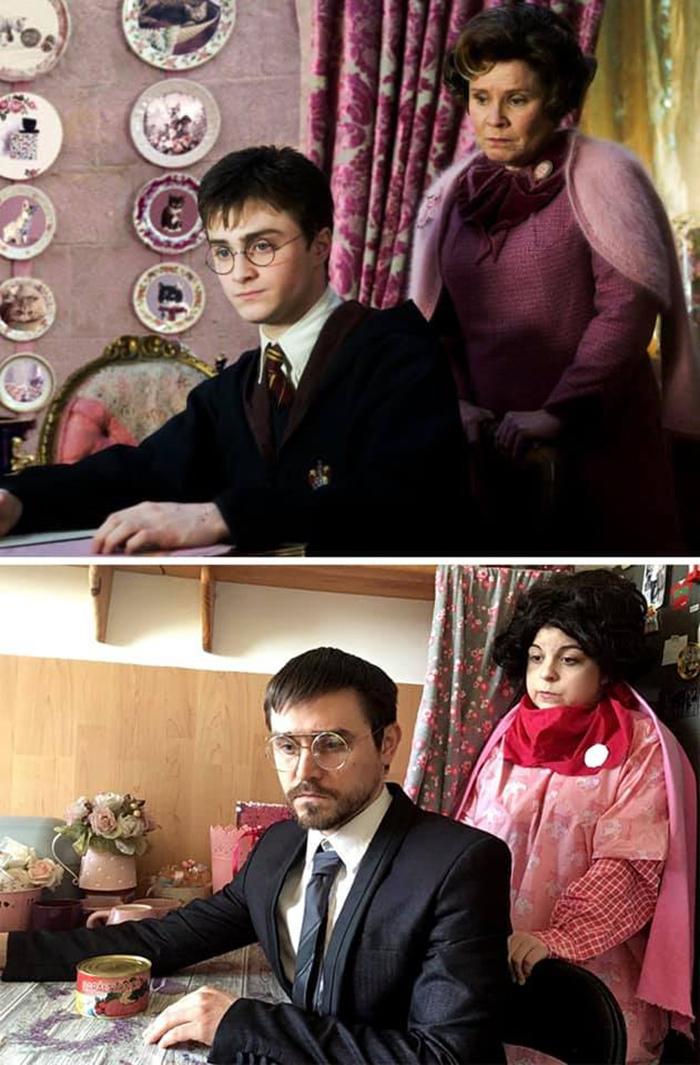 Couple Recreates Scene from Harry Potter