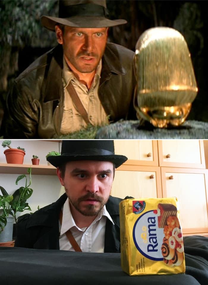 Couple Recreates Scene from Indiana Jones