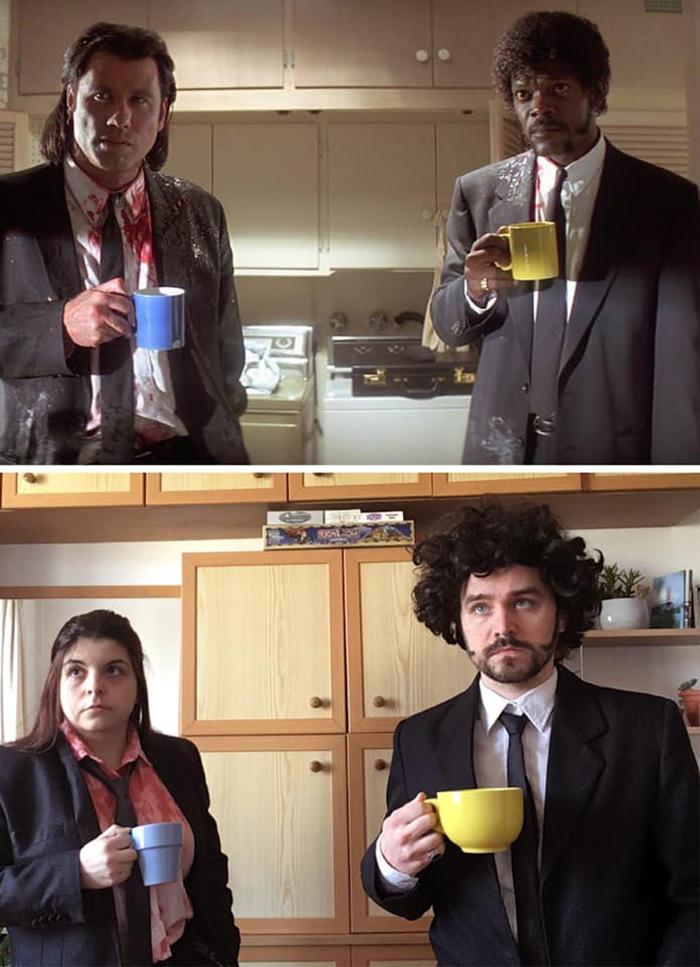 Couple Recreates Scene from Pulp Fiction