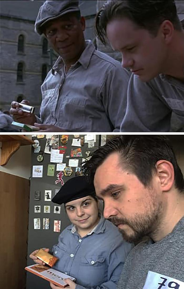 Couple Recreates Scene from Shawshank Redemption