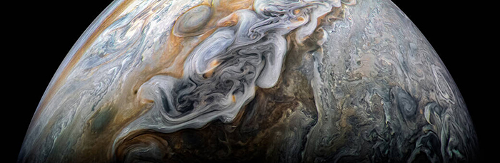 Dark and Stormy Jupiter Photo