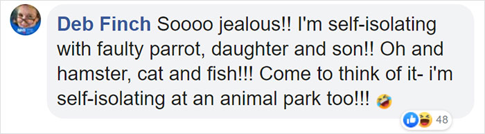 Deb Finch Facebook Comment