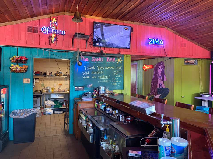 Interior of The Sand Bar sans dollar bills