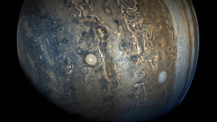 Jupiter's Stunning Southern Hemisphere