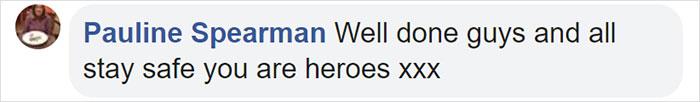 Pauline Spearman Facebook Comment