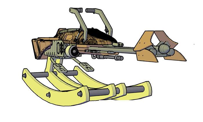 Rocking Speeder Bike Concept Drawing
