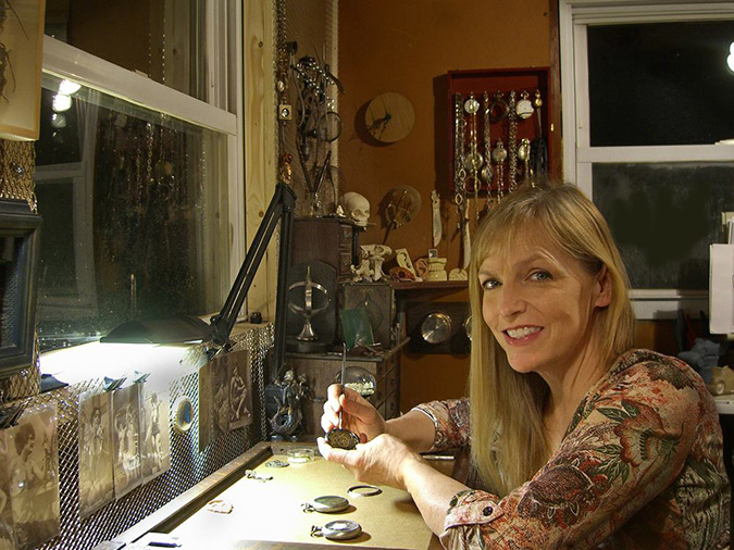 Susan Beatrice creates steampunk sculptures at her studio