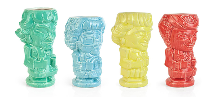The Golden Girls Tiki Mugs Side
