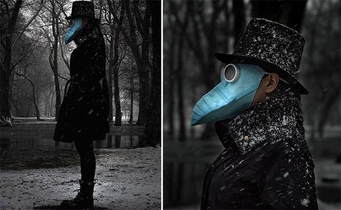 blue beak medical mask