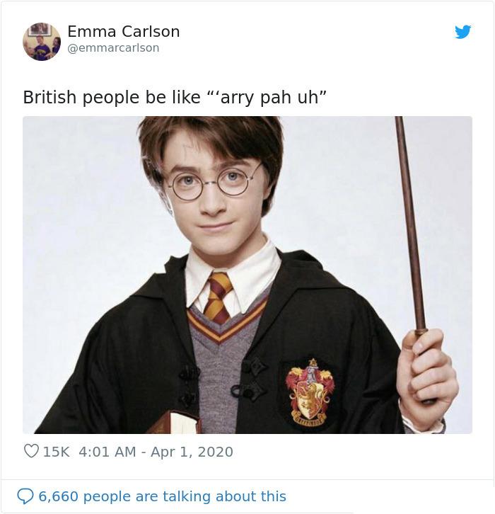 british accent harry potter