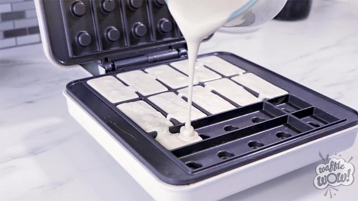 building brick waffle maker batter
