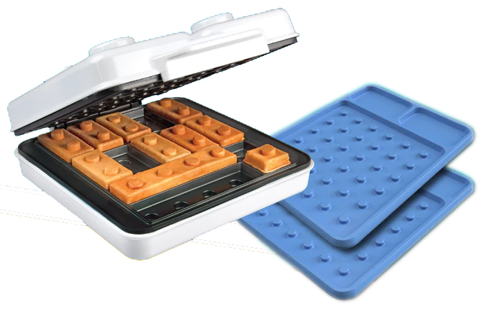 building brick waffle maker with cooking plates