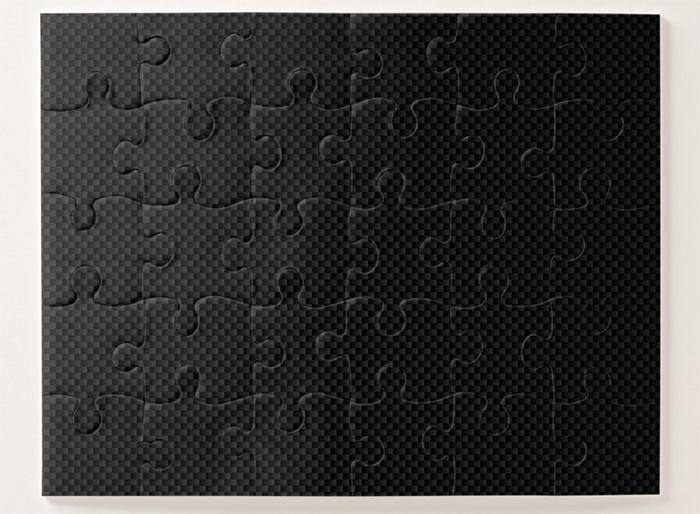carbon fiber print style jigsaw easy level