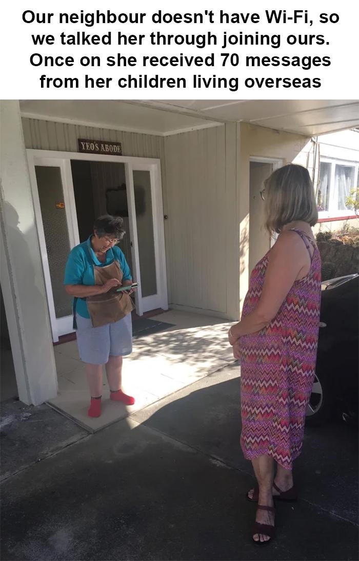 coronavirus good stories neighbor shares wifi