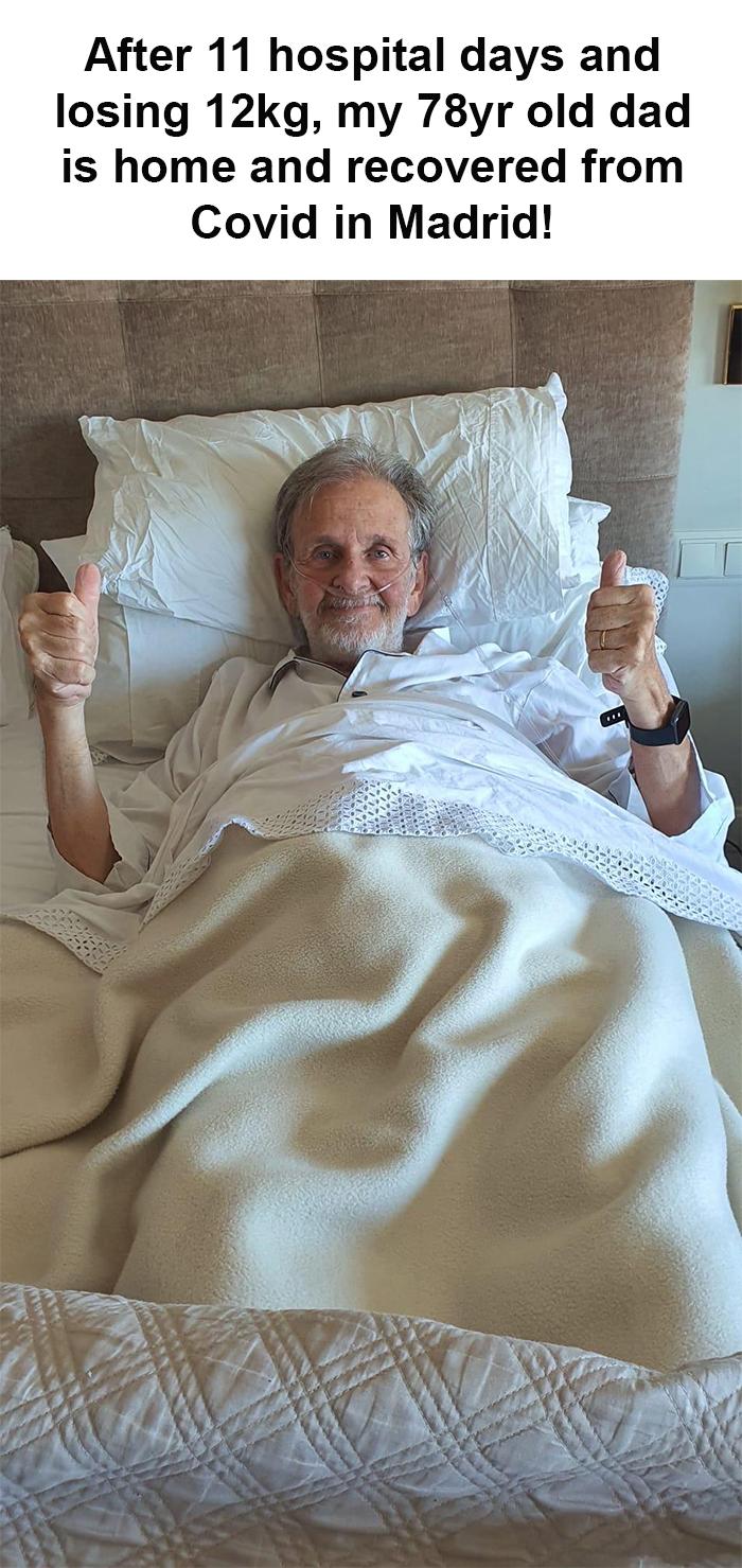 coronavirus good stories senior man recovers