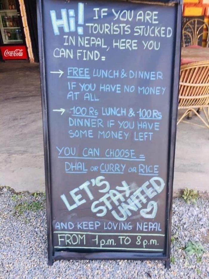 coronavirus wholesome stories nepal restaurant