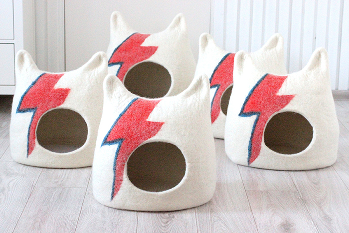 david bowie inspired feline caves
