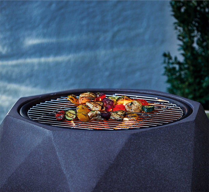 faux stone fire pits double as grills