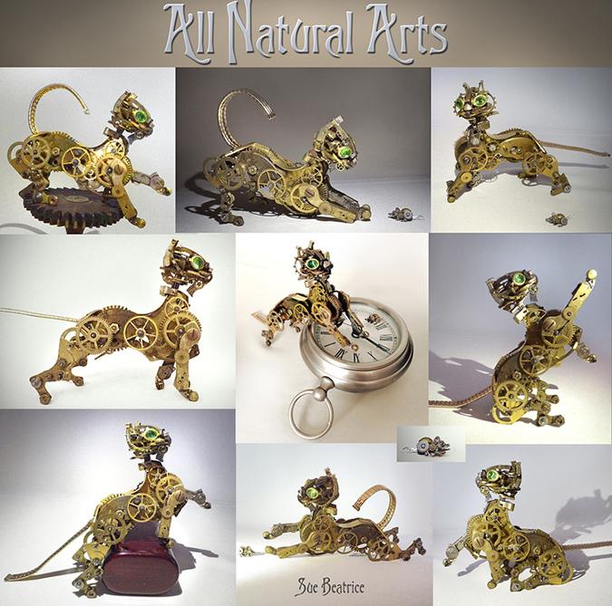 feline sculptures