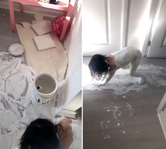 funny kids lockdown stories floor paint