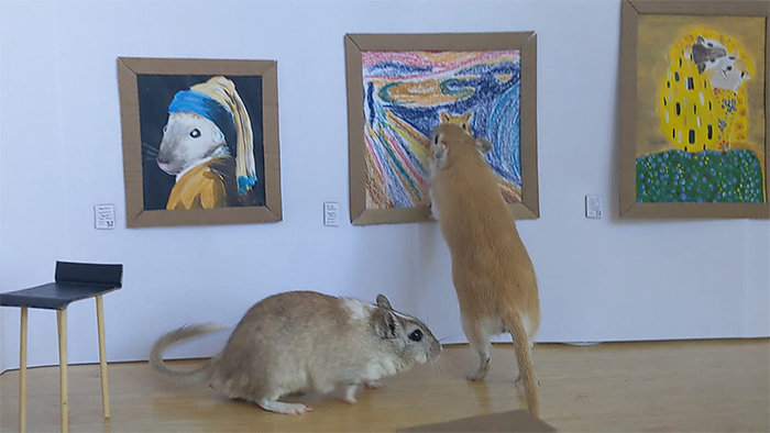 gerbils miniature art gallery