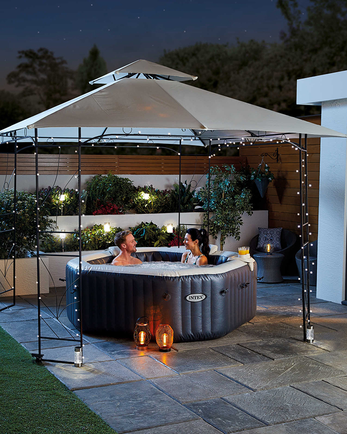 intex inflatable spa pool garden