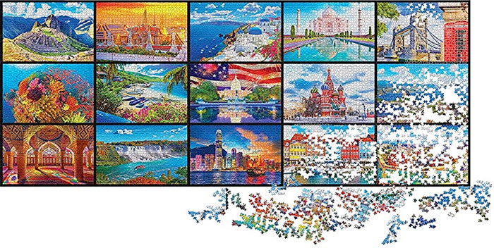 kodak 51300-piece puzzle world wonders