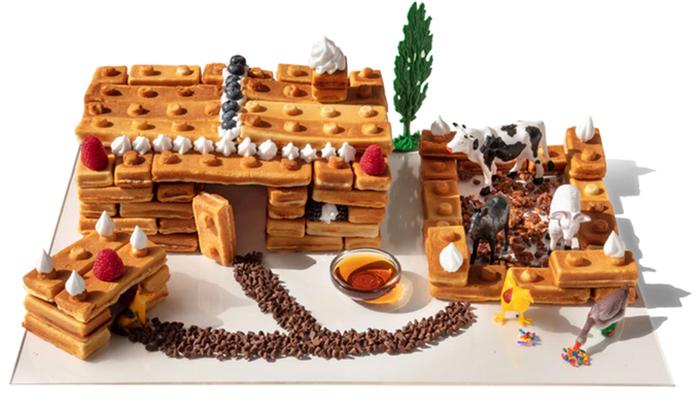 lego block shapes pancakes