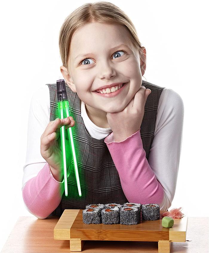 lightsaber chopsticks green