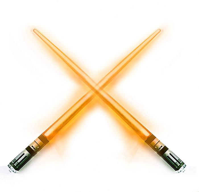 lightsaber chopsticks orange