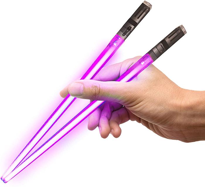 lightsaber chopsticks purple