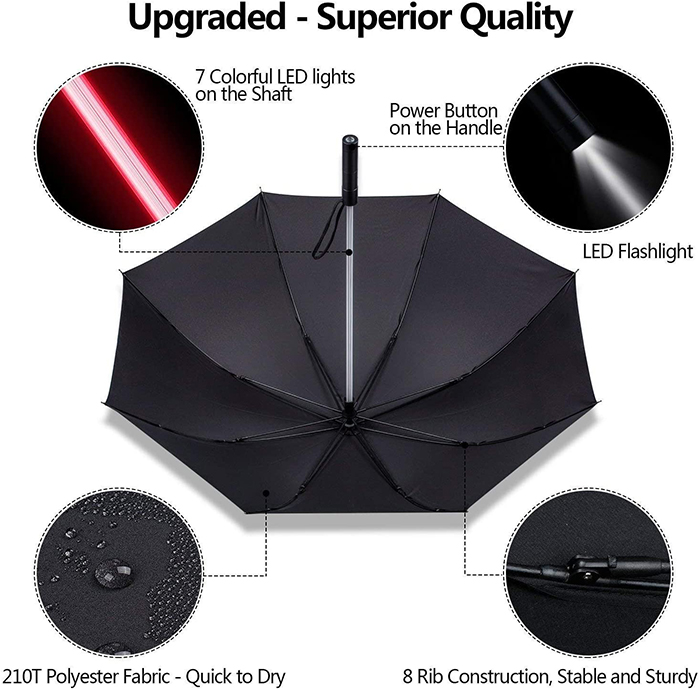 lightsaber umbrella specifications