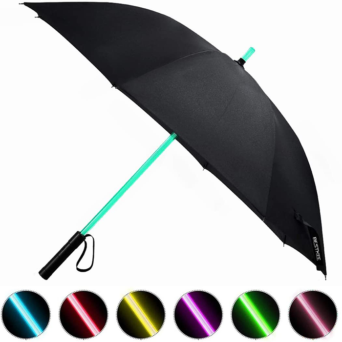 lightsaber umbrella with sample color choices