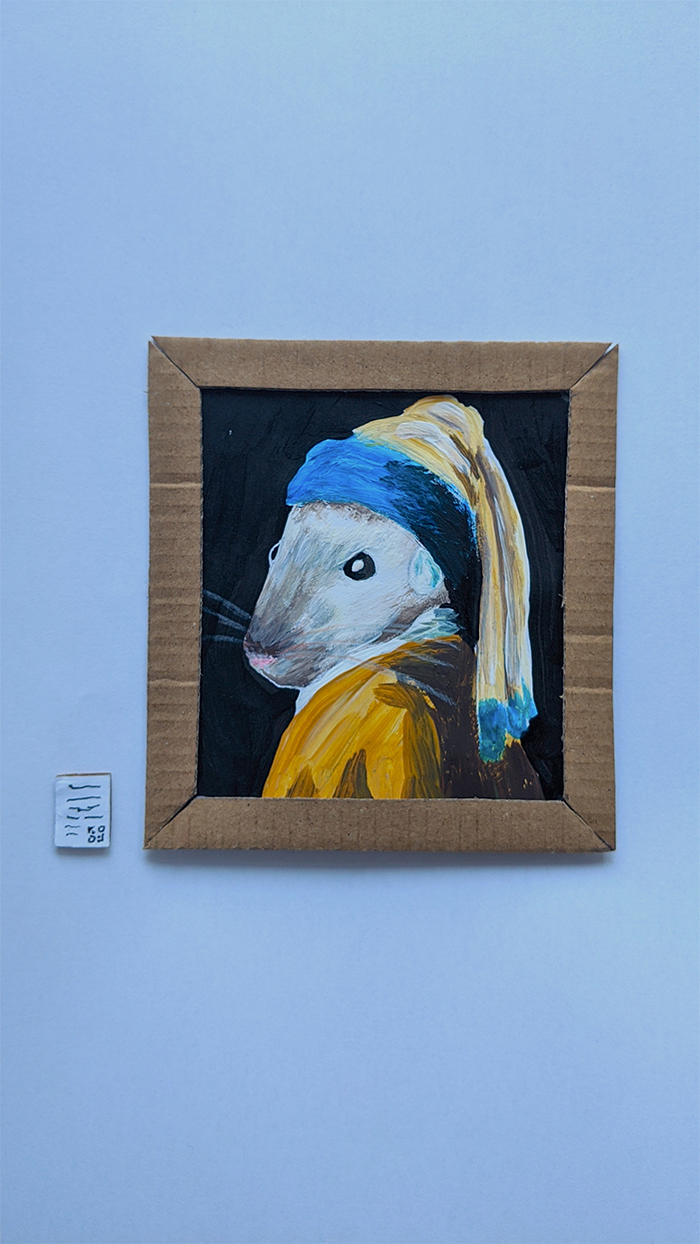 miniature art gallery girl with a pearl earring