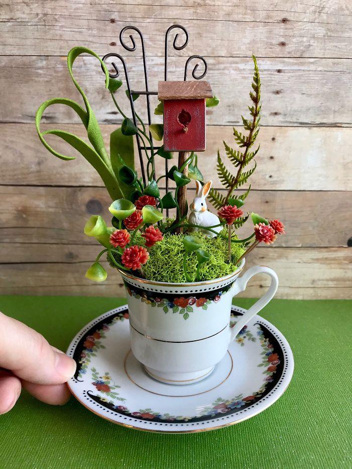 miniature landscapes birdhouse