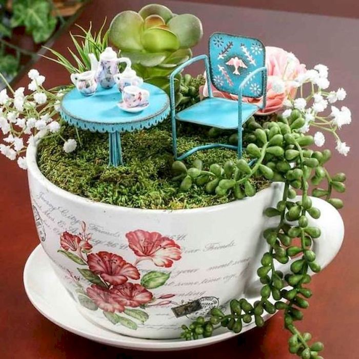 miniature landscapes on a cup