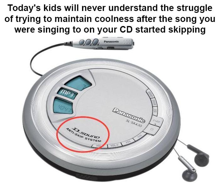 old school struggles anti-skip cd player