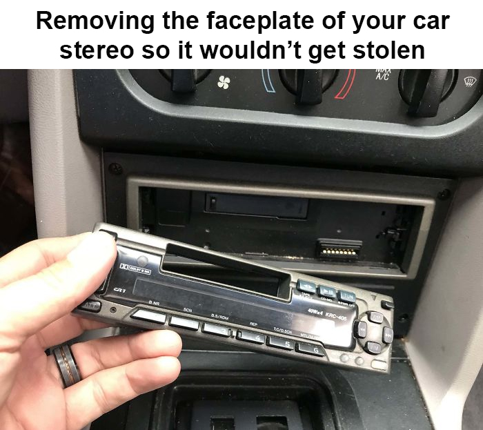 old school struggles car stereo faceplate