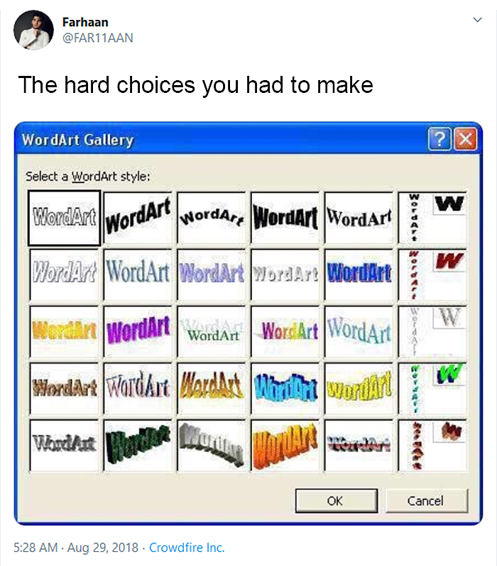 old school struggles word art