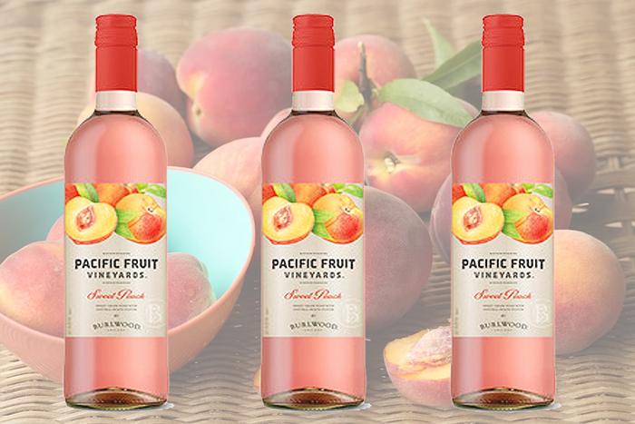 pacific fruit vineyards sweet peach wine