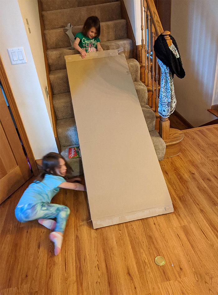 parenting quarantine cardboard box toy