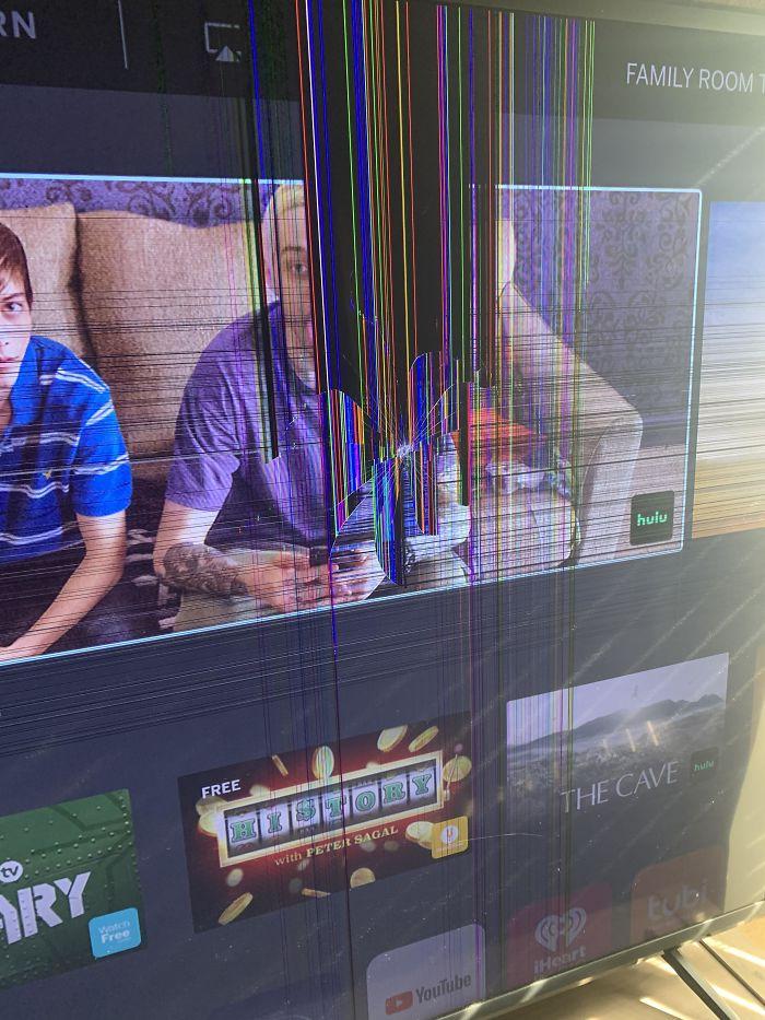 parenting quarantine kid broke tv