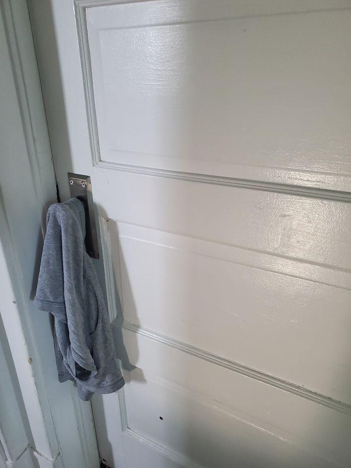 parenting quarantine underwear on the doorknob
