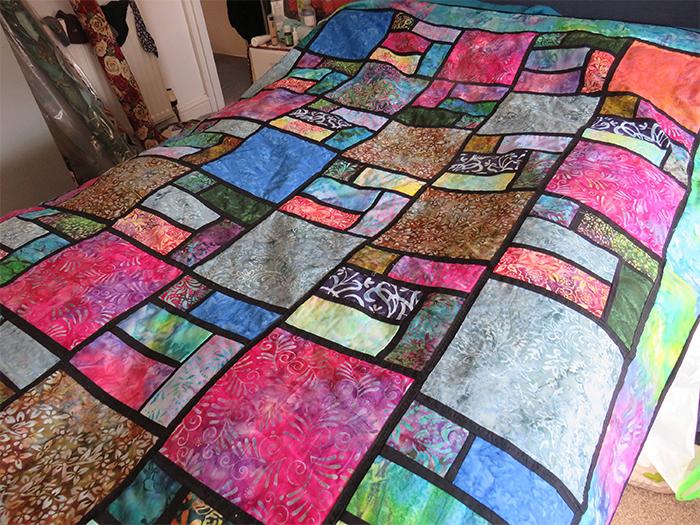 patchwork batik quilt-making