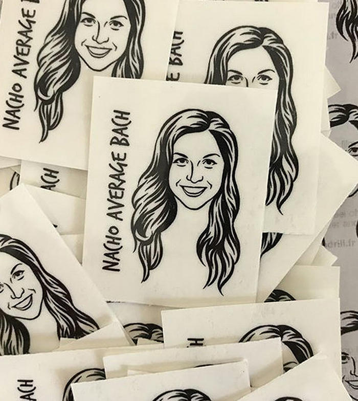 personalized temporary tattoos sketch portrait