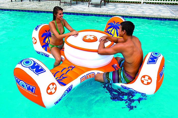 pool floater with four seats