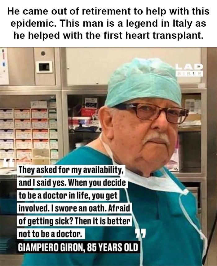 retired doctor returns to duty coronavirus good stories