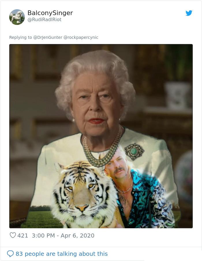 royal green dress memes tiger king