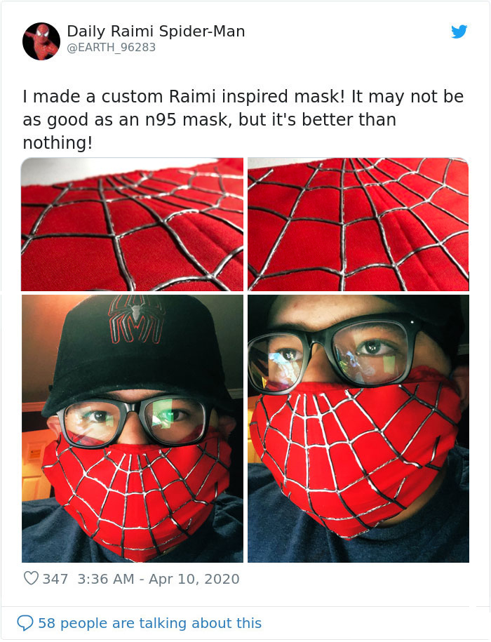 spiderman inspired custom respirator
